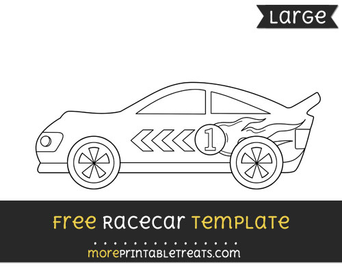 Free Racecar Template - Large