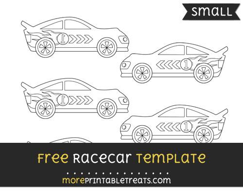 Free Racecar Template - Small