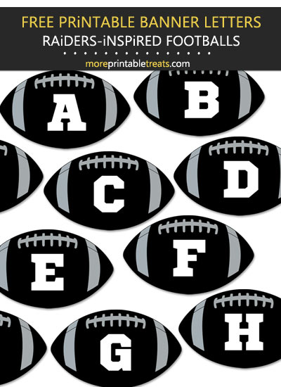 Free Printable Raiders-Inspired Football Alphabet