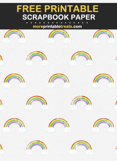 Free Printable Rainbow Scrapbook Paper