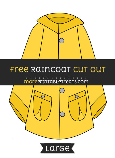 Free Raincoat Cut Out - Large size printable