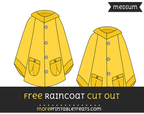 Free Raincoat Cut Out - Medium Size Printable