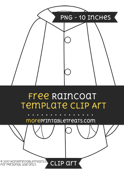Free Raincoat Template - Clipart