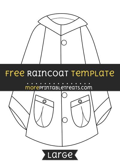Free Raincoat Template - Large