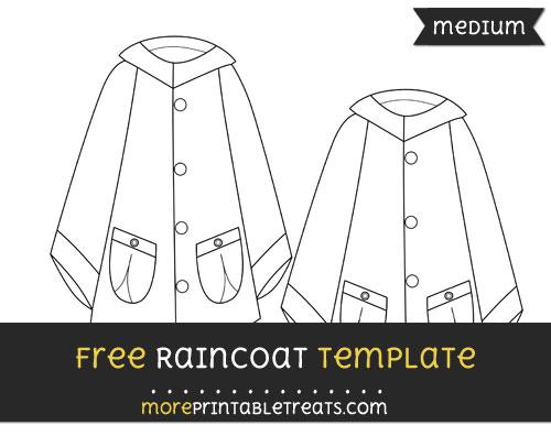 Free Raincoat Template - Medium