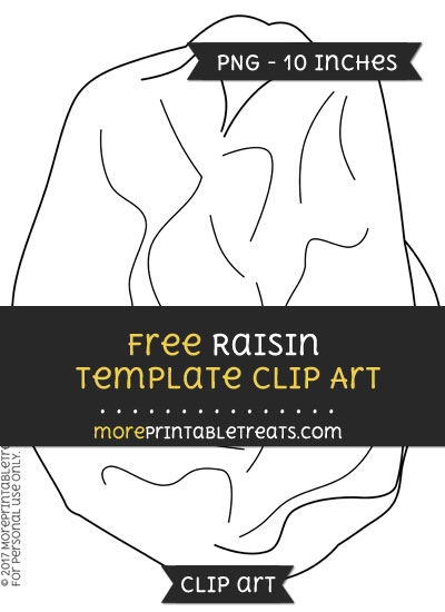 Free Raisin Template - Clipart