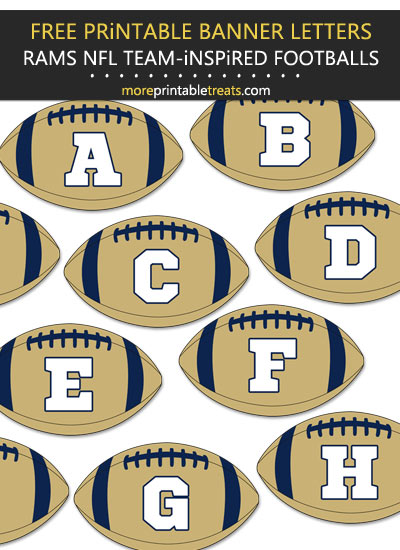 Free Printable Rams-Inspired Football Bunting Banner