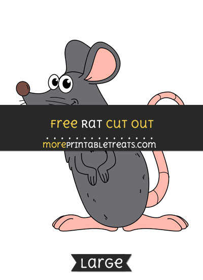 Free Rat Cut Out - Large size printable