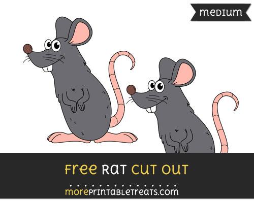 Free Rat Cut Out - Medium Size Printable
