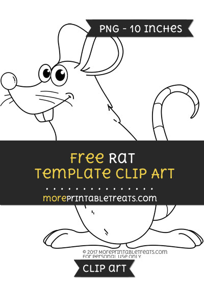 Free Rat Template - Clipart