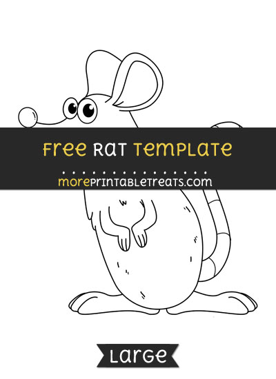 Free Rat Template - Large