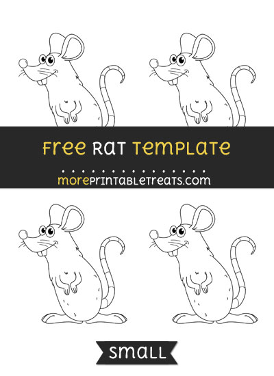 Free Rat Template - Small