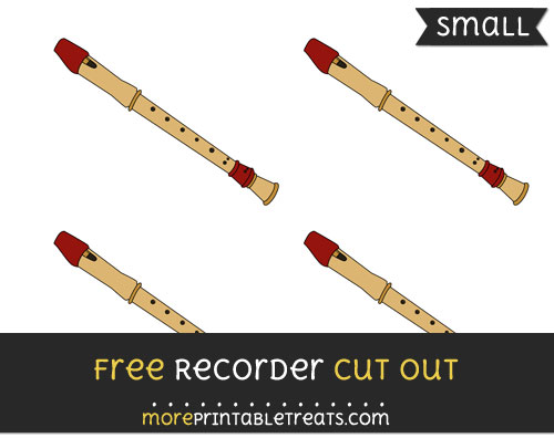 Free Recorder Cut Out - Small Size Printable
