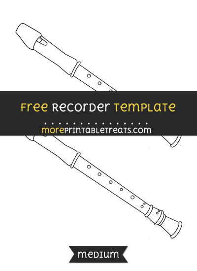 Free Recorder Template - Medium