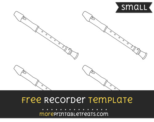 Free Recorder Template - Small