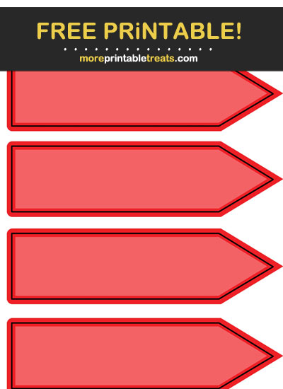 Free Printable Red Arrow Flag Labels