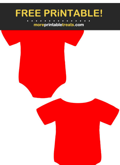 Free Printable Red Baby Onesie Cut Outs