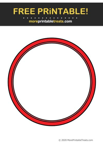 Free Printable Red Circle Frame Cut Out