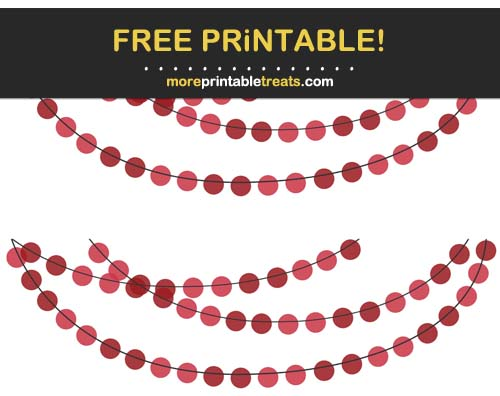 Free Printable Red Circles Bunting Banner Cut Outs
