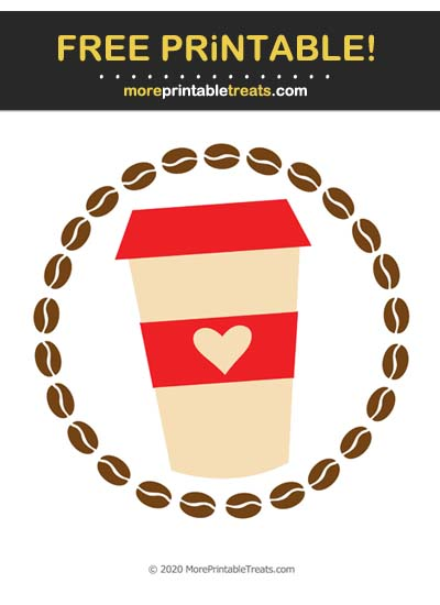 Free Printable Red Coffee Icon Cut Out