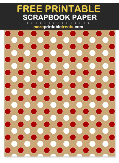 Free Printable Red and Gold Polka Dot Scrapbook Paper - For 49ers Football Fan Crafting!