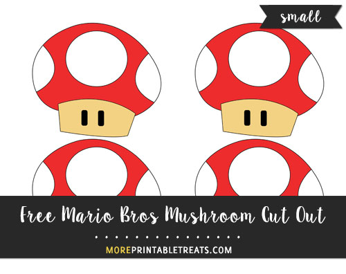 Free Red Mario Bros Mushroom Cut Out - Small