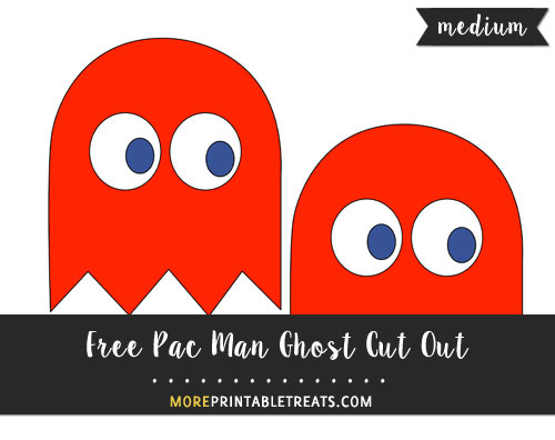 Free Red Pac Man Ghost (Blinky) Cut Out - Medium