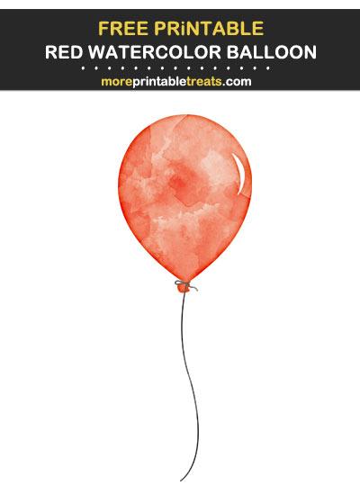 Free Printable Red Watercolor Balloon Print