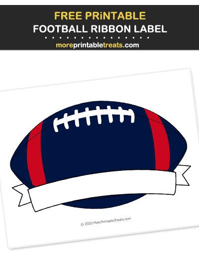 Free Printable Red, Blue, White Football Ribbon Label