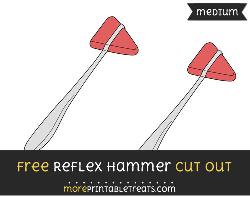 Free Reflex Hammer Cut Out - Medium Size Printable