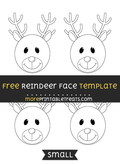 Free Reindeer Face Template - Small