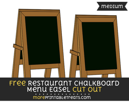 Free Restaurant Chalkboard Menu Easel Cut Out - Medium Size Printable