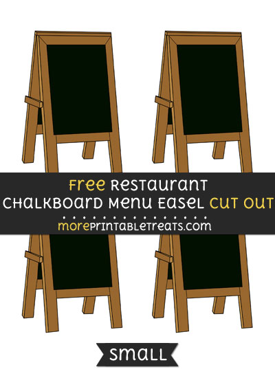 Free Restaurant Chalkboard Menu Easel Cut Out - Small Size Printable