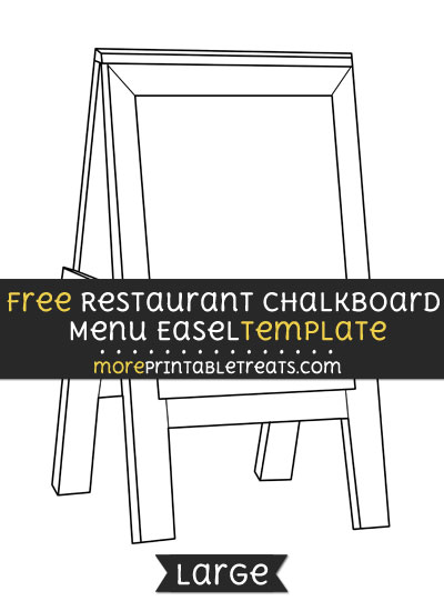 Free Restaurant Chalkboard Menu Easel Template - Large
