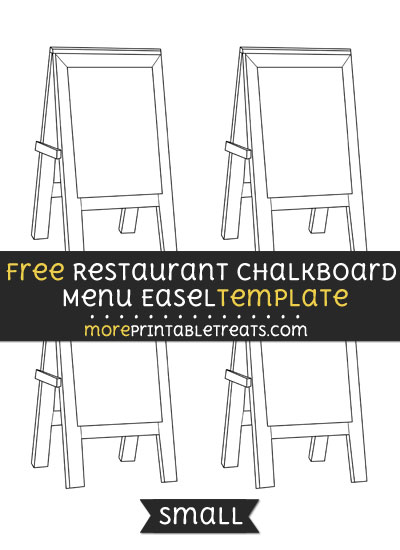 Free Restaurant Chalkboard Menu Easel Template - Small