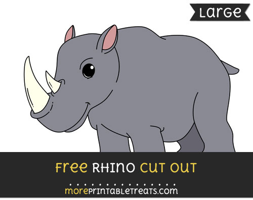 Free Rhino Cut Out - Large size printable
