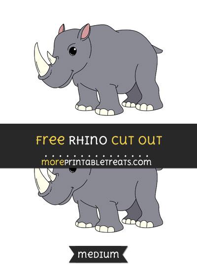 Free Rhino Cut Out - Medium Size Printable