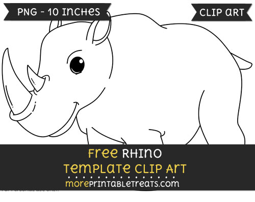 Free Rhino Template - Clipart