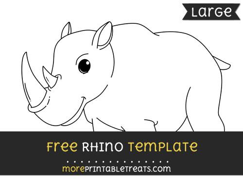 Free Rhino Template - Large