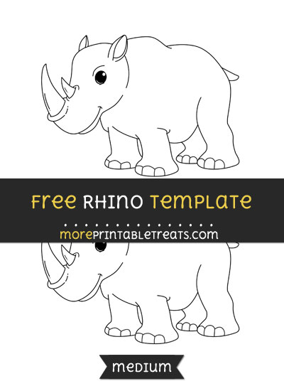 Free Rhino Template - Medium
