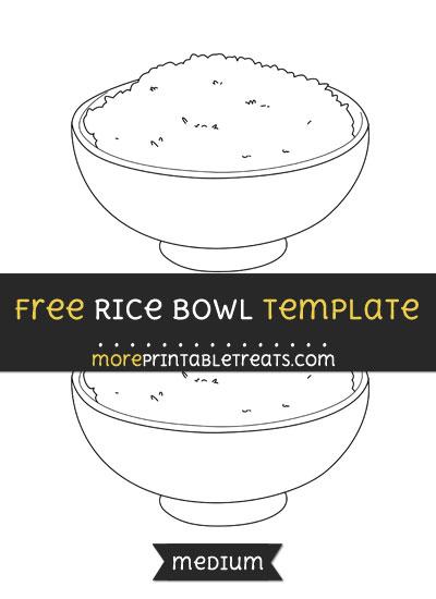 Free Rice Bowl Template - Medium