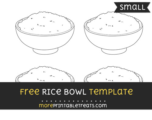 Free Rice Bowl Template - Small