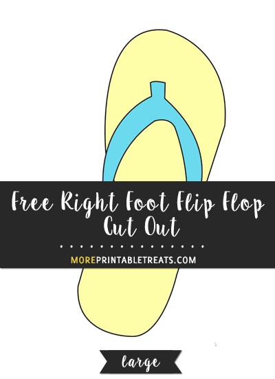 Free Right Foot Flip Flop Cut Out - Large