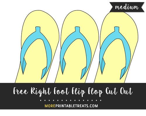 Free Right Foot Flip Flop Cut Out - Medium