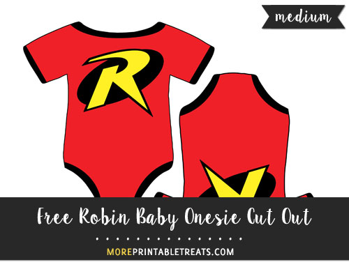 Free Robin Baby Onesie Cut Out - Medium