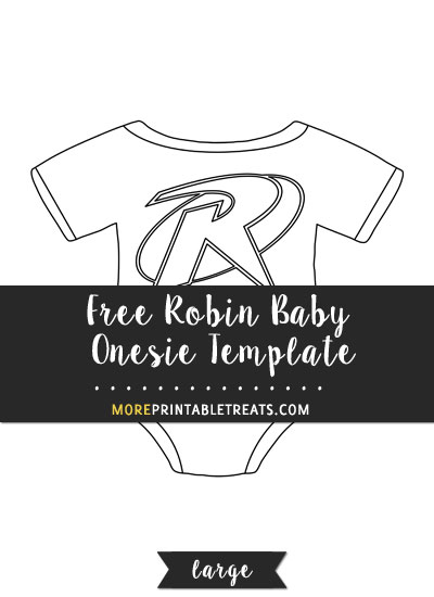 Free Robin Baby Onesie Template - Large