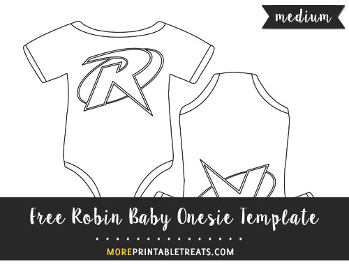 Free Robin Baby Onesie Template - Medium Size