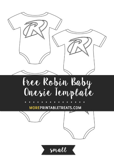 Free Robin Baby Onesie Template - Small Size
