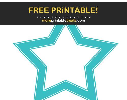 Free Printable Robin Egg Blue Star Frame