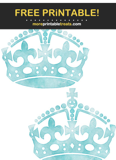 Free Printable Robin Egg Blue Watercolor Keep Calm Crowns